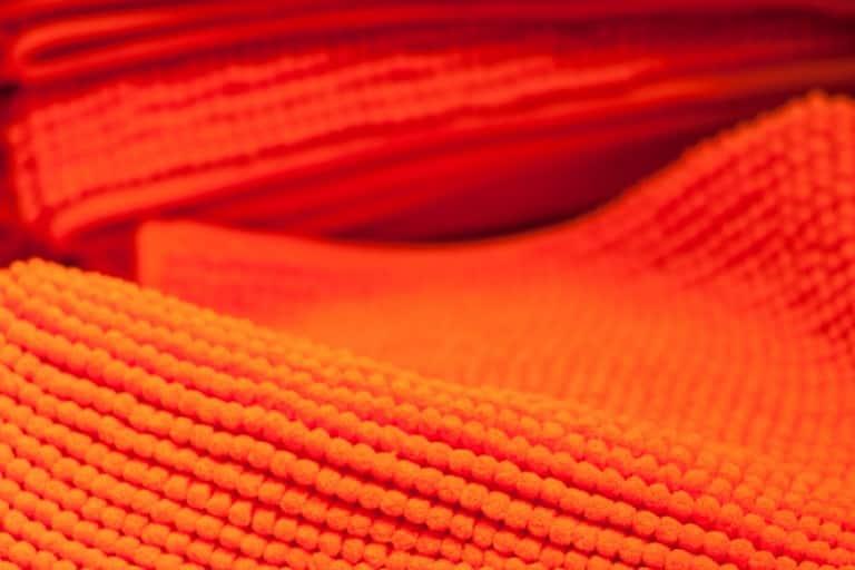 Orange microfibre cloths