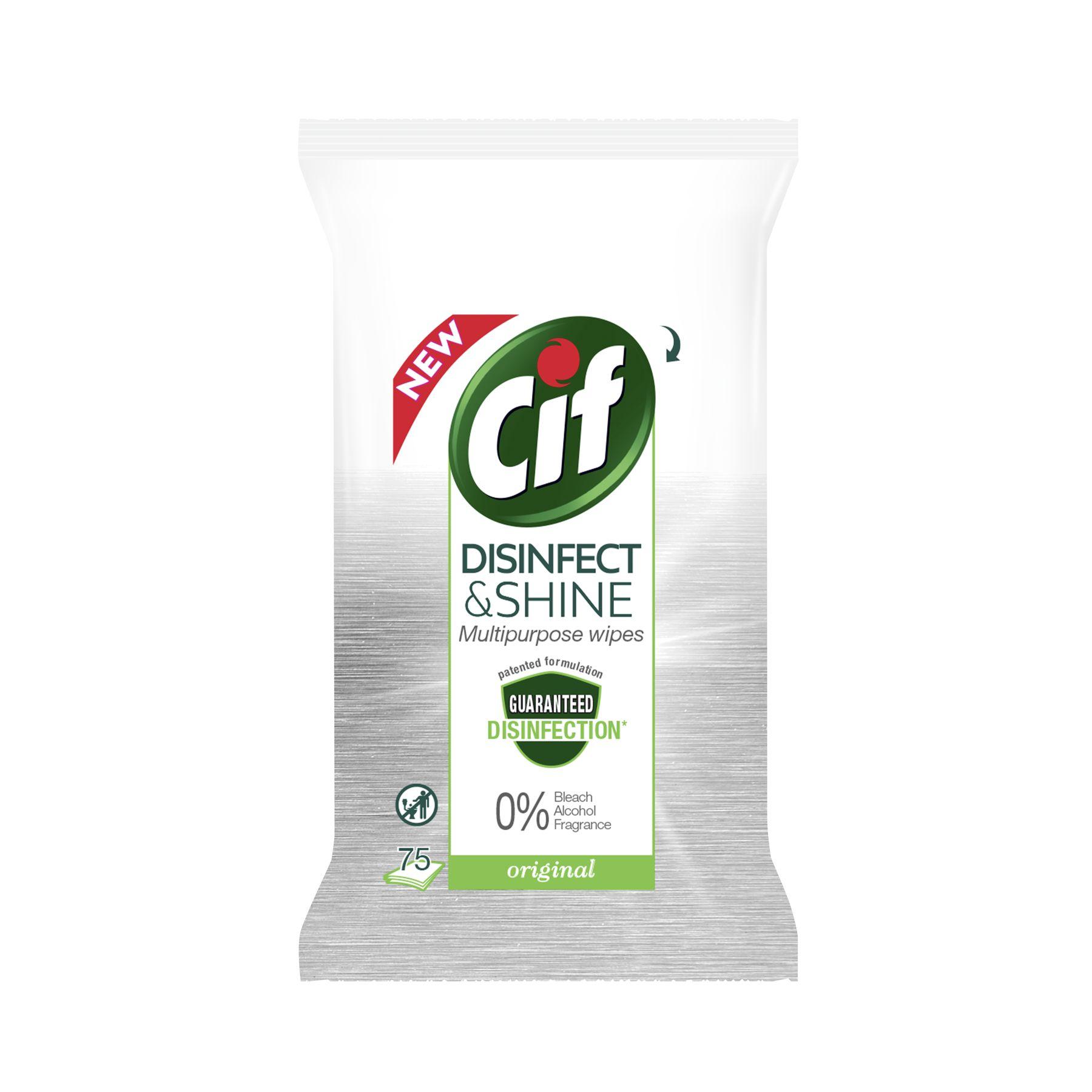 Cif Disinfect & Shine Multipurpose Original Wipes 75 doekjes