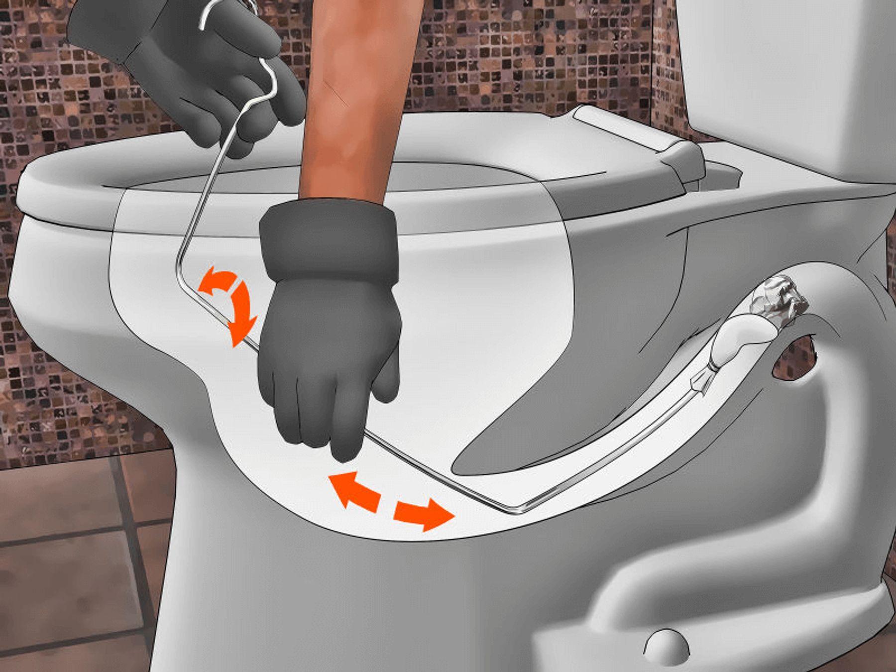 Cách thông tắc bồn cầu bị nghẹt bằng móc treo quần áo | Cleanipedia