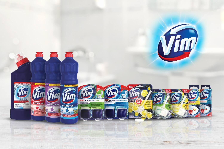 Linha de produtos Vim