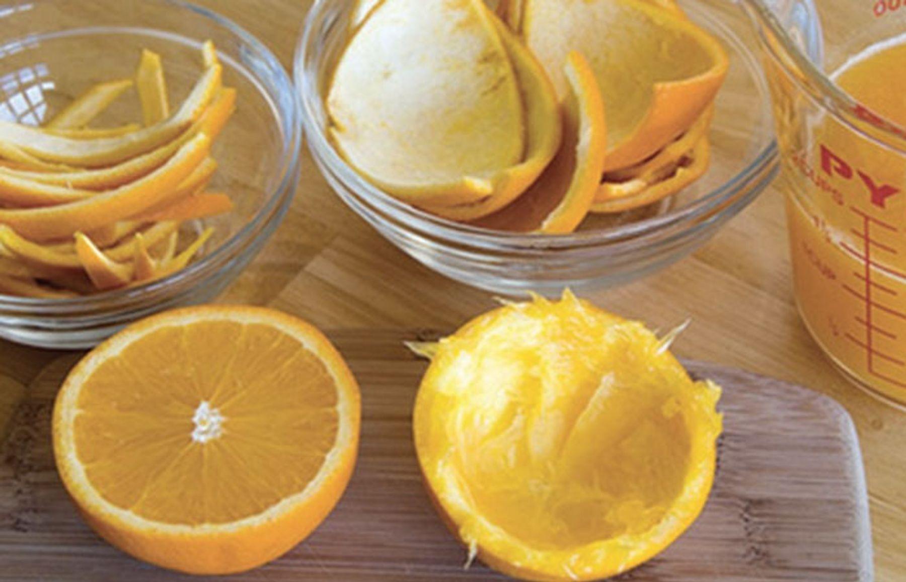 Step 1: cách diệt ruồi bằng vỏ cam chanh