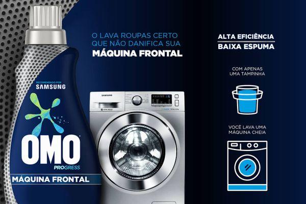 Sabão para lavar ropuas OMO Máquina Frontal