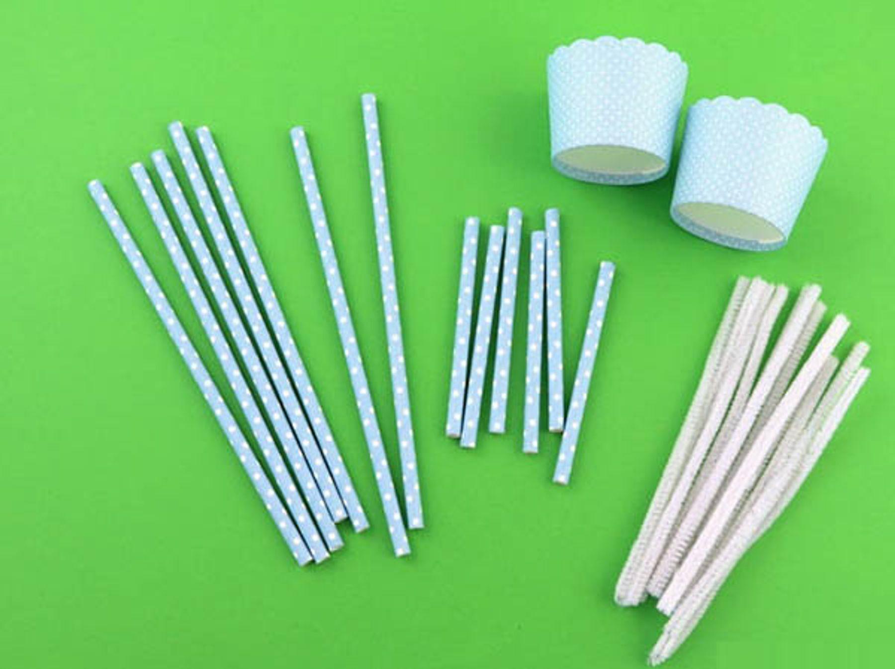 Step 7: Làm xích đu từ ống hút giấy