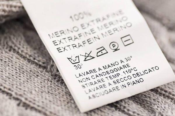 etiqueta suéter de lana
