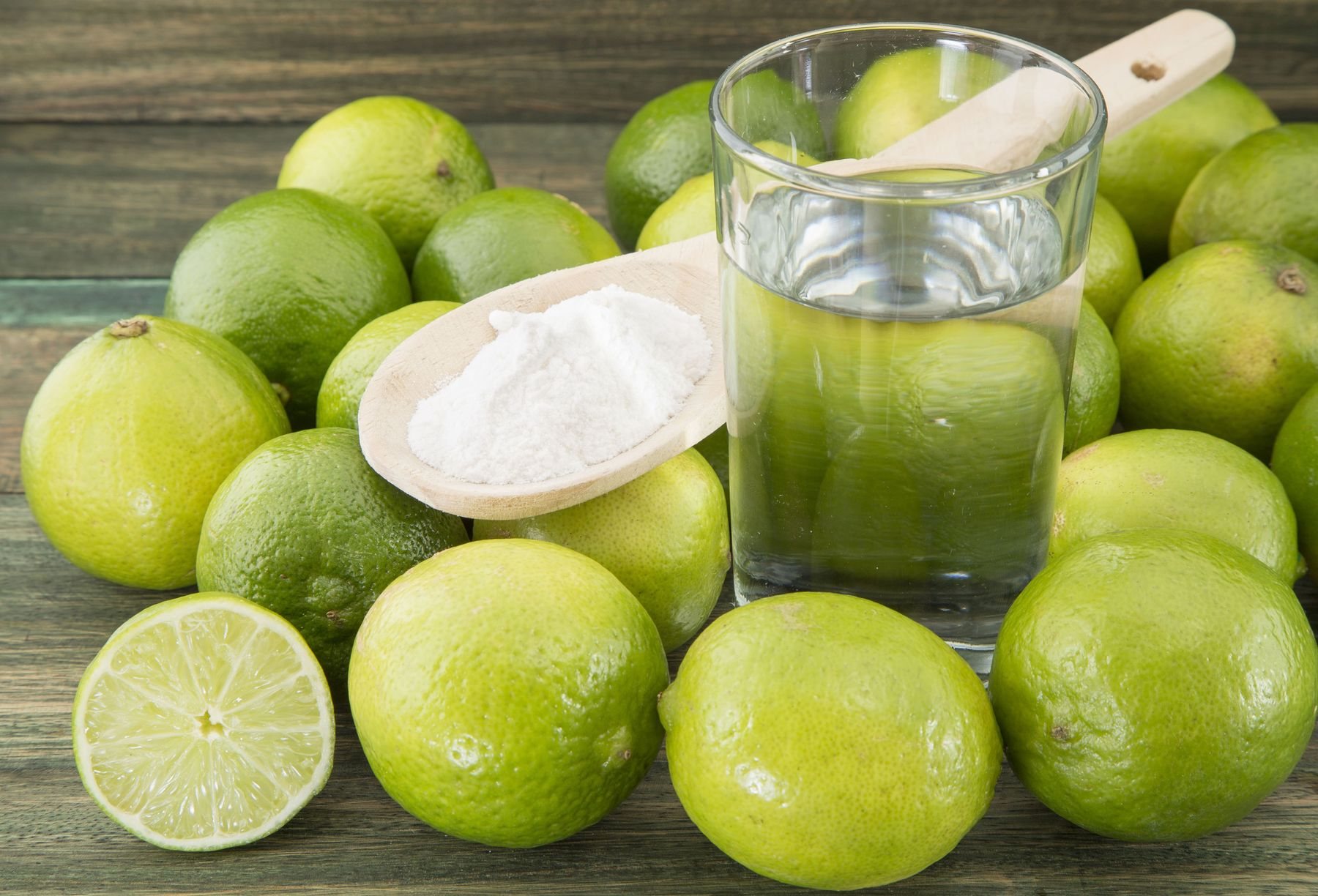 Spray Lime Juice on Bathroom Walls