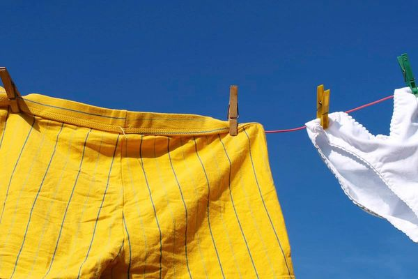 Underwear on a washing line