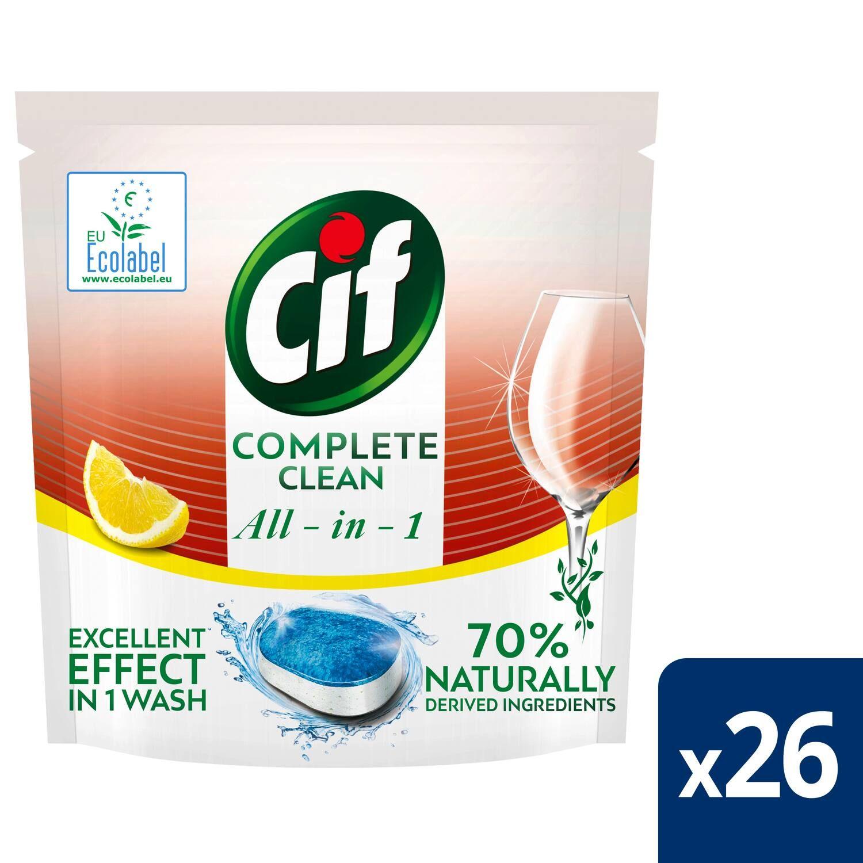 cif tablety do mycky complete clean 26 kusu s vuni citronu