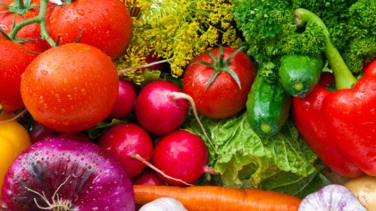 Clean fruits and vegetables