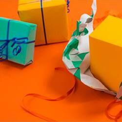 emballage cadeau coloré