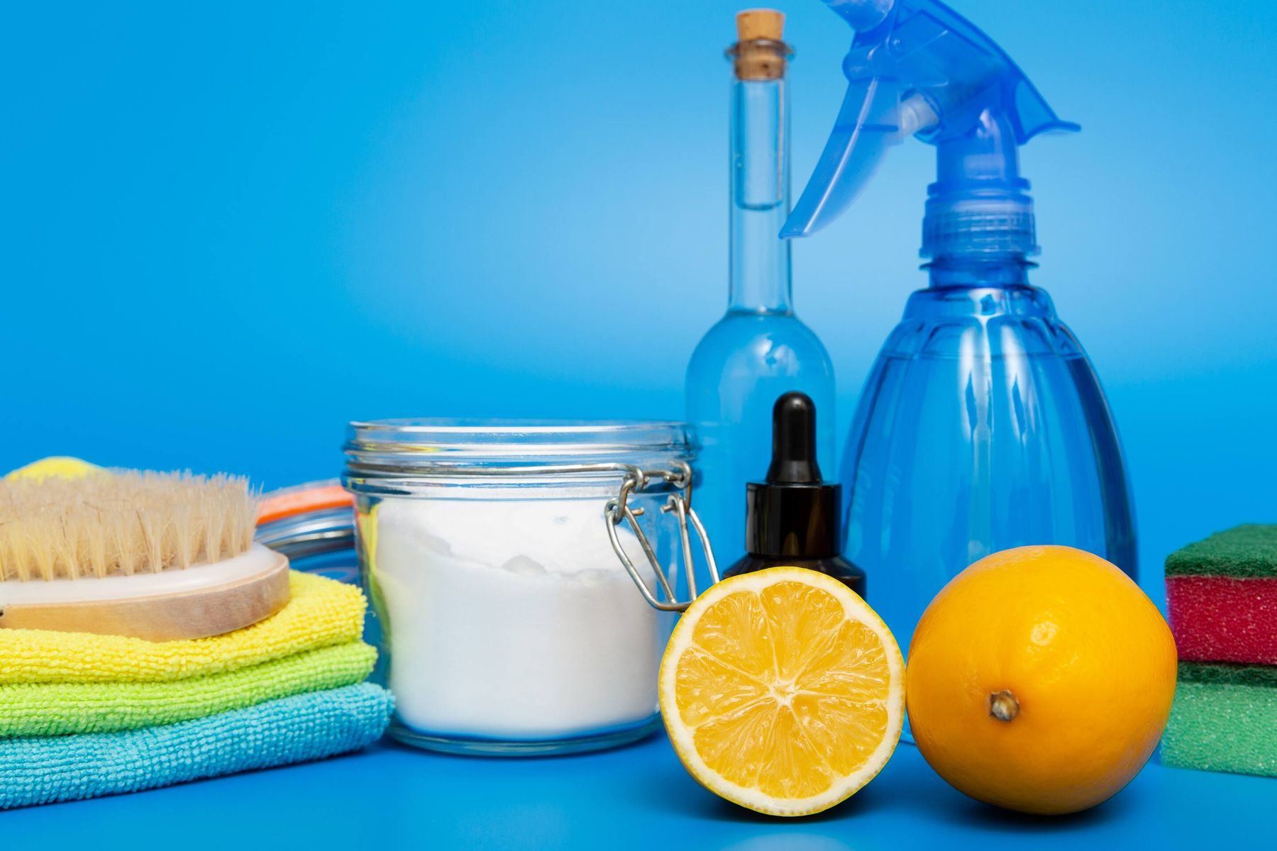 selection of natural cleaning project