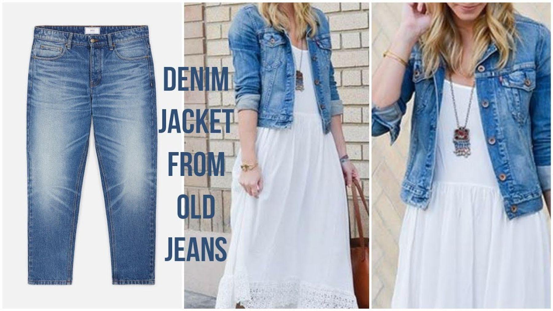 Tái chế quần jean thành áo khoác jean