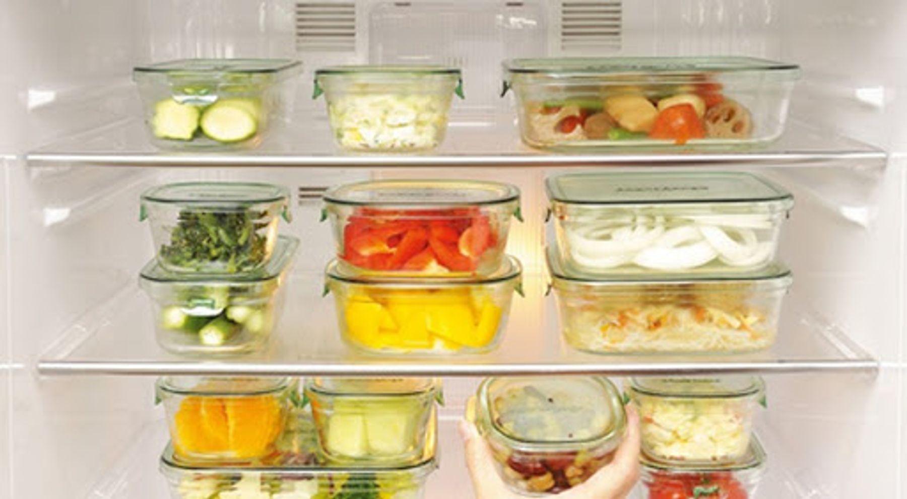 Bảo quản thực phẩm trong tủ lạnh bằng hộp thủy tinh