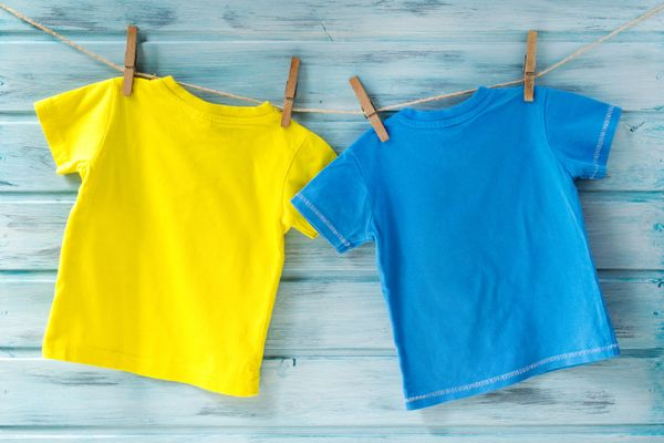 two tshirts on washing line
