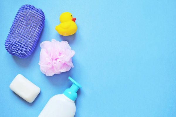products for bathing a newborn