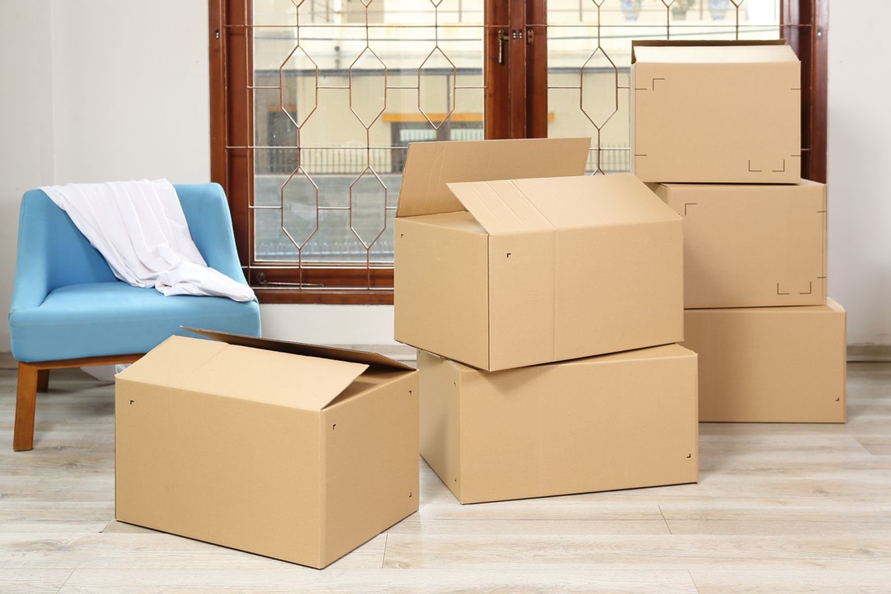 Image of multiple boxes at home