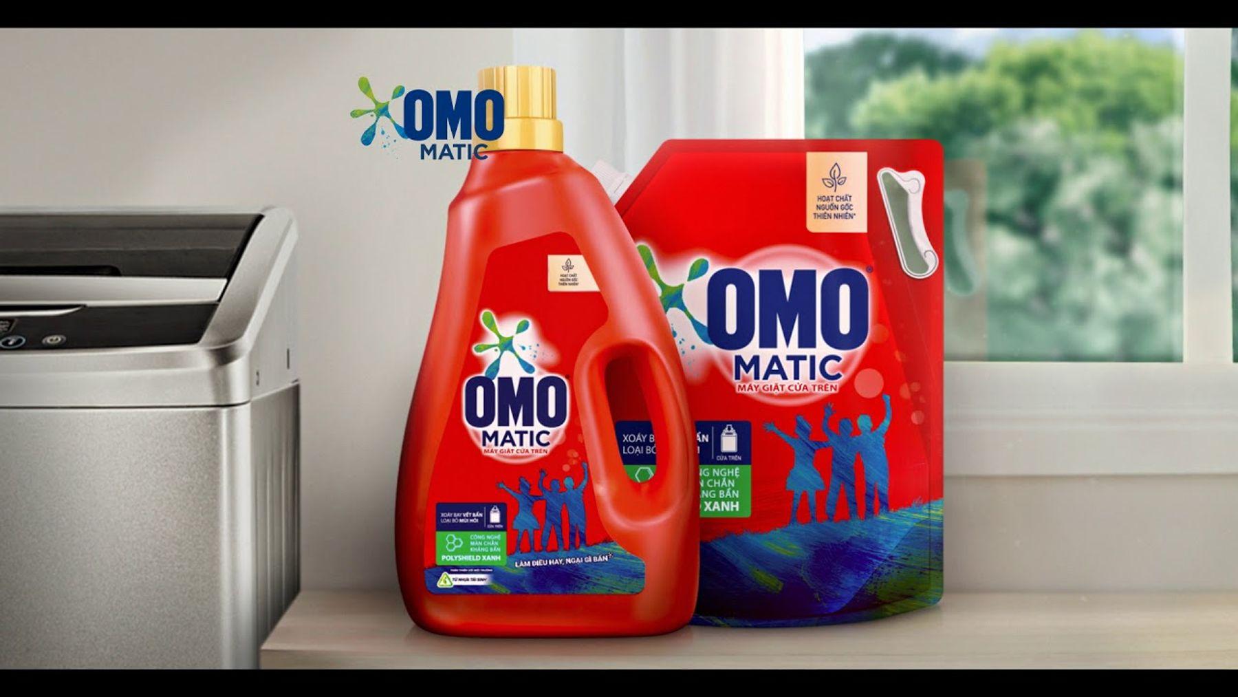 Nước giặt Omo Matic 2 trong 1