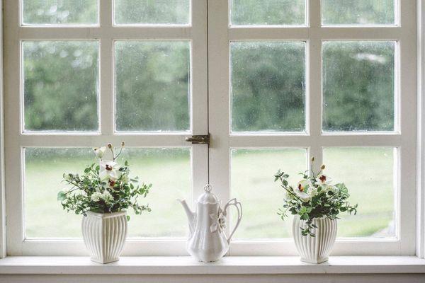 Okna i doniczki