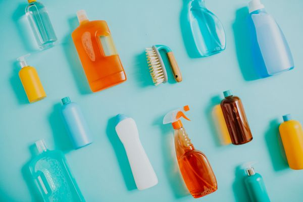 Different types of cleaning products