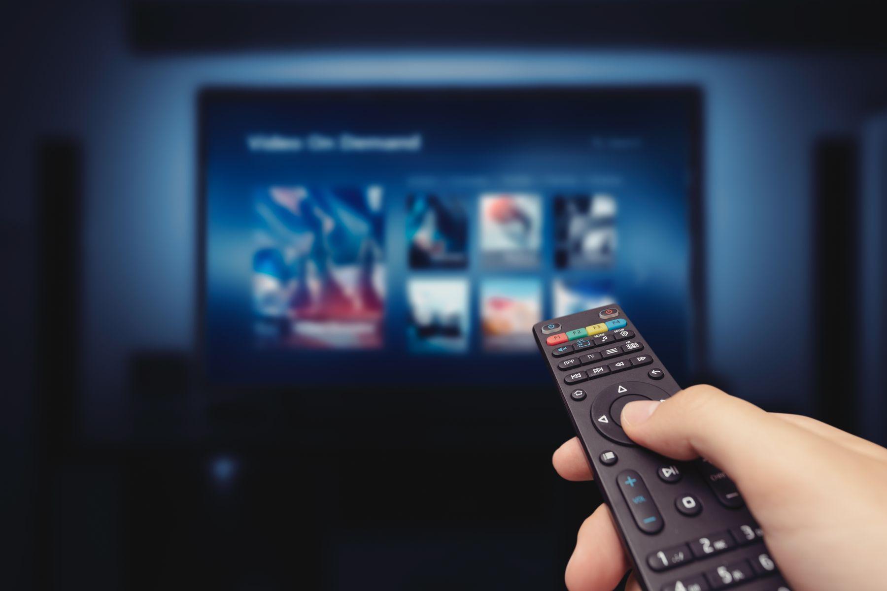 Controle remoto e televisão