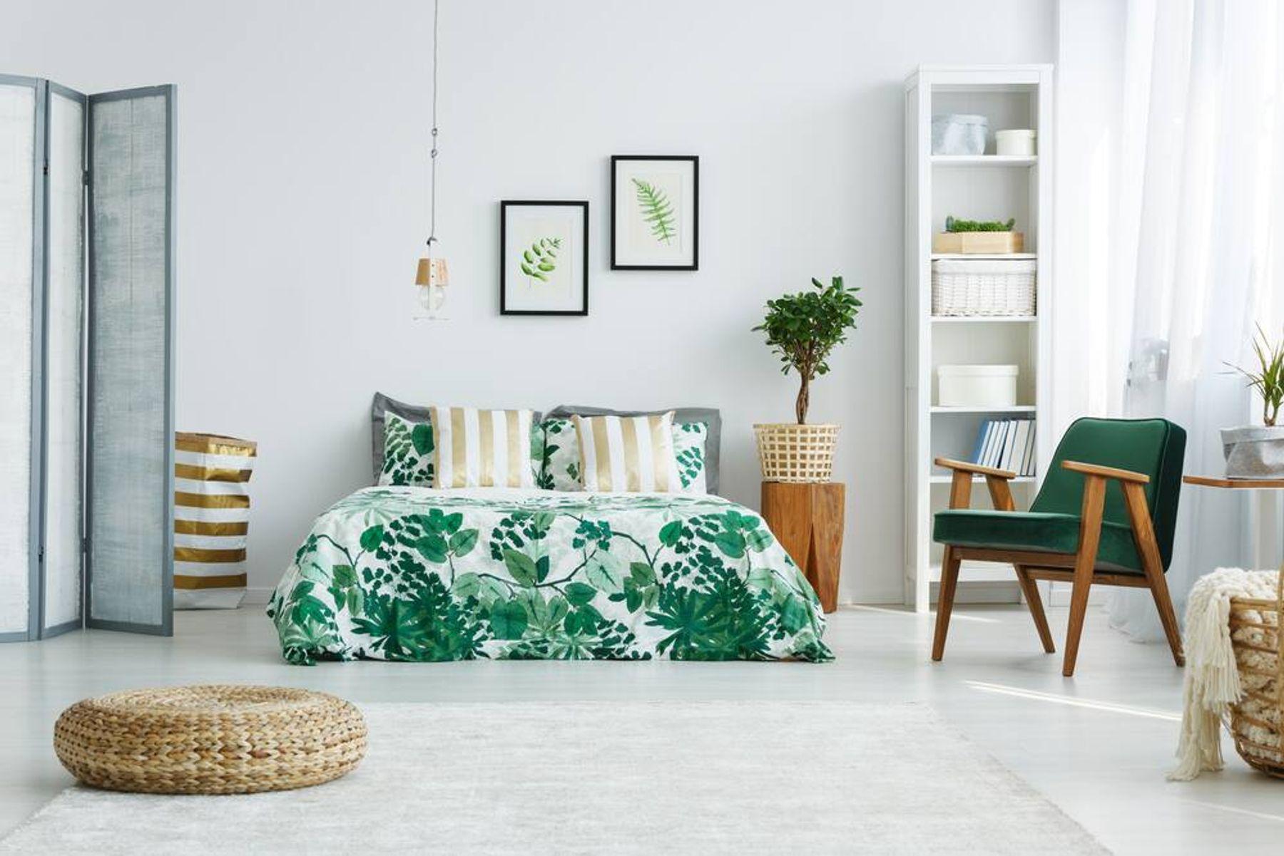Cách bố trí phòng ngủ - không nên có các đồ vật chứa nước