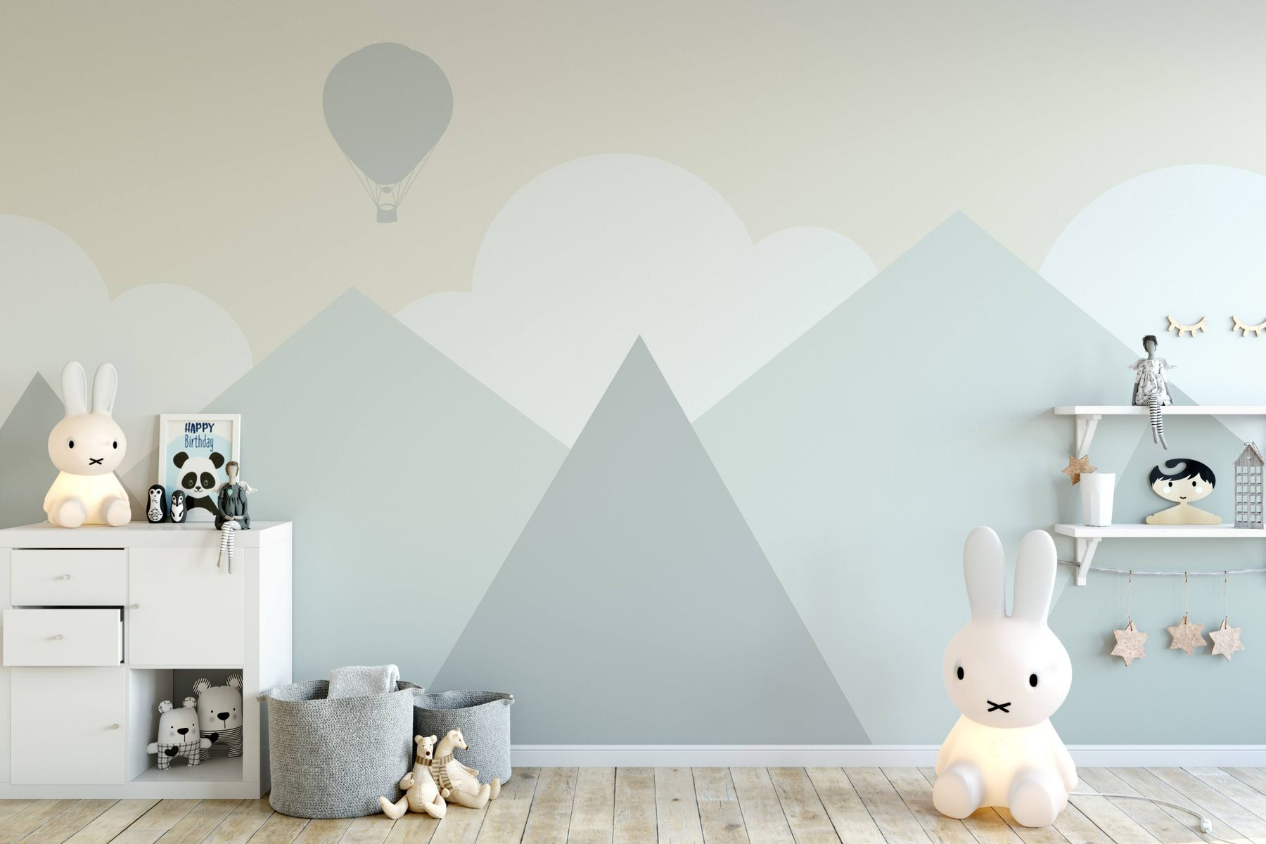 how-to-fix-cracks-in-walls-bright-wall-with-abstract-patterns-and-kids-accessories