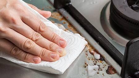 3 Bước vệ sinh bếp hồng ngoại bằng chanh và baking soda
