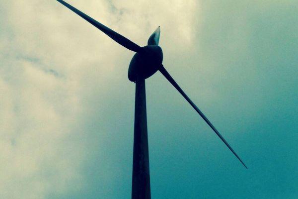 Molino de viento para energía renovable eólica