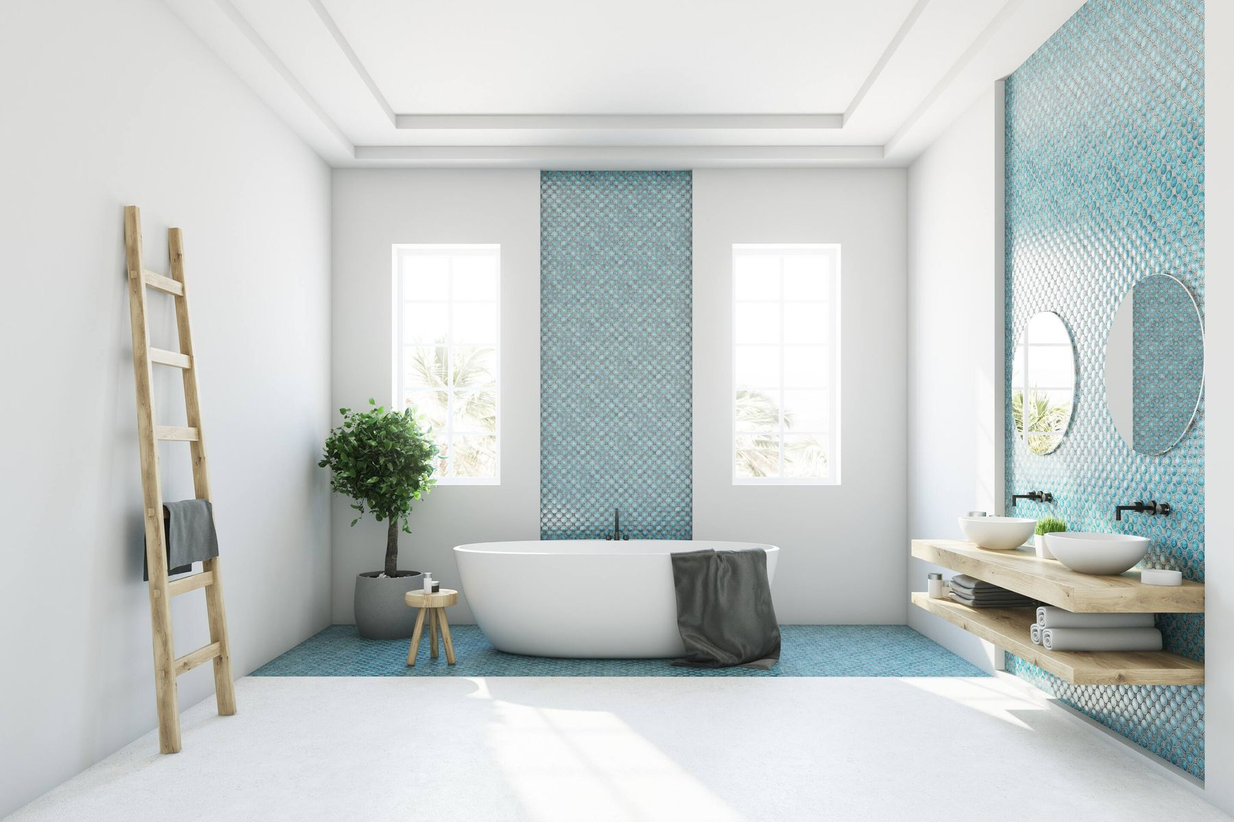 We've Got the Perfect Method for Shiny Bathroom Tiles!