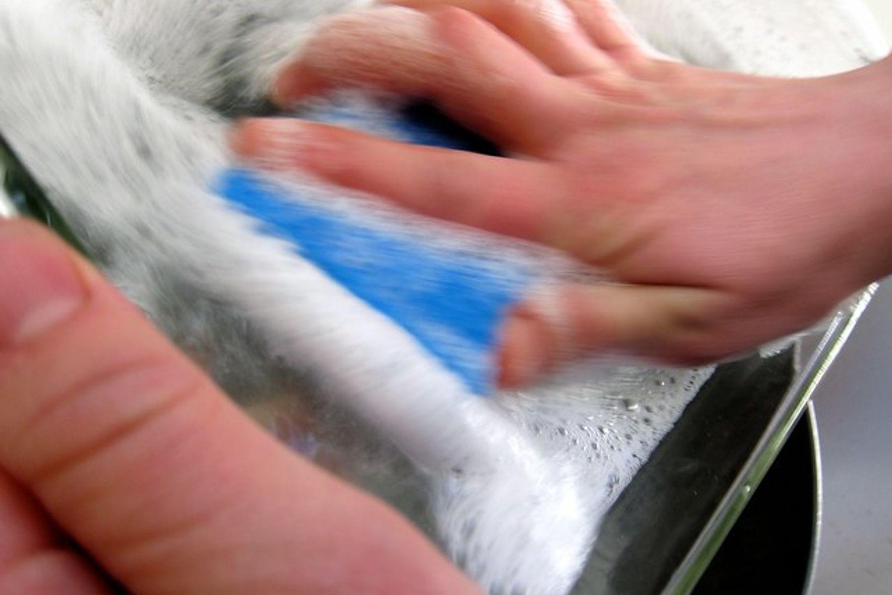 sủ dụng nước rửa chén