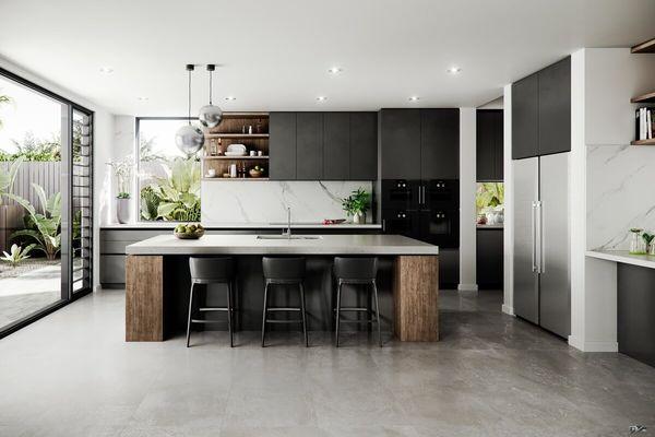 Trang trí nhà bếp với tủ lạnh