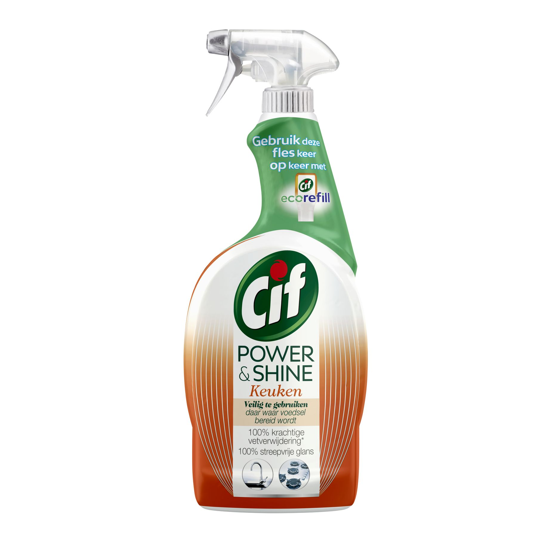 Cif Power & Shine Keuken Spray 750ml
