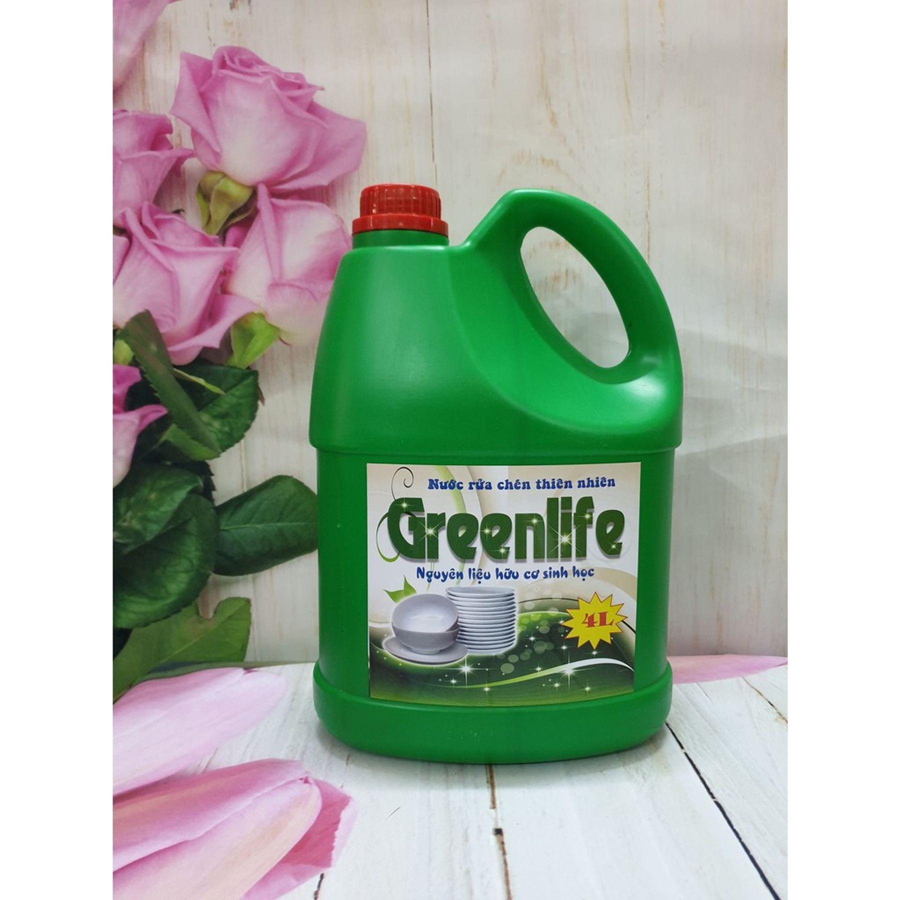 Nước rửa chén sinh học Greenlife