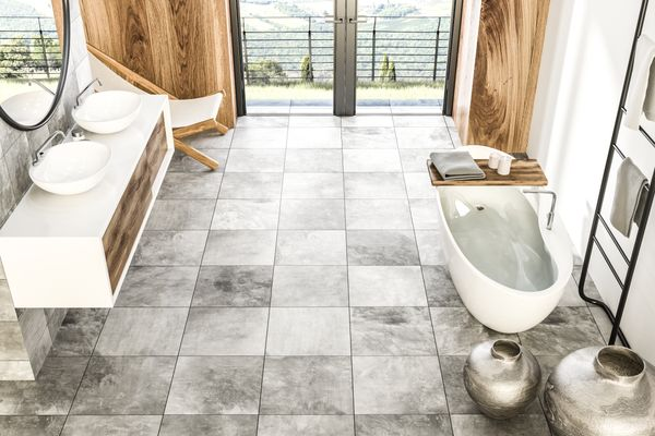 How to clean bathroom tiles and floor