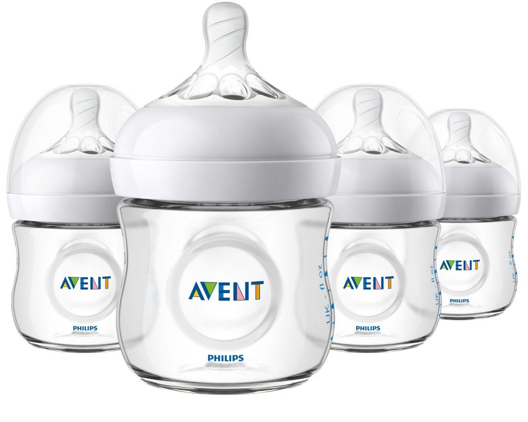 Bình sữa cho trẻ sơ sinh hình cung Avent