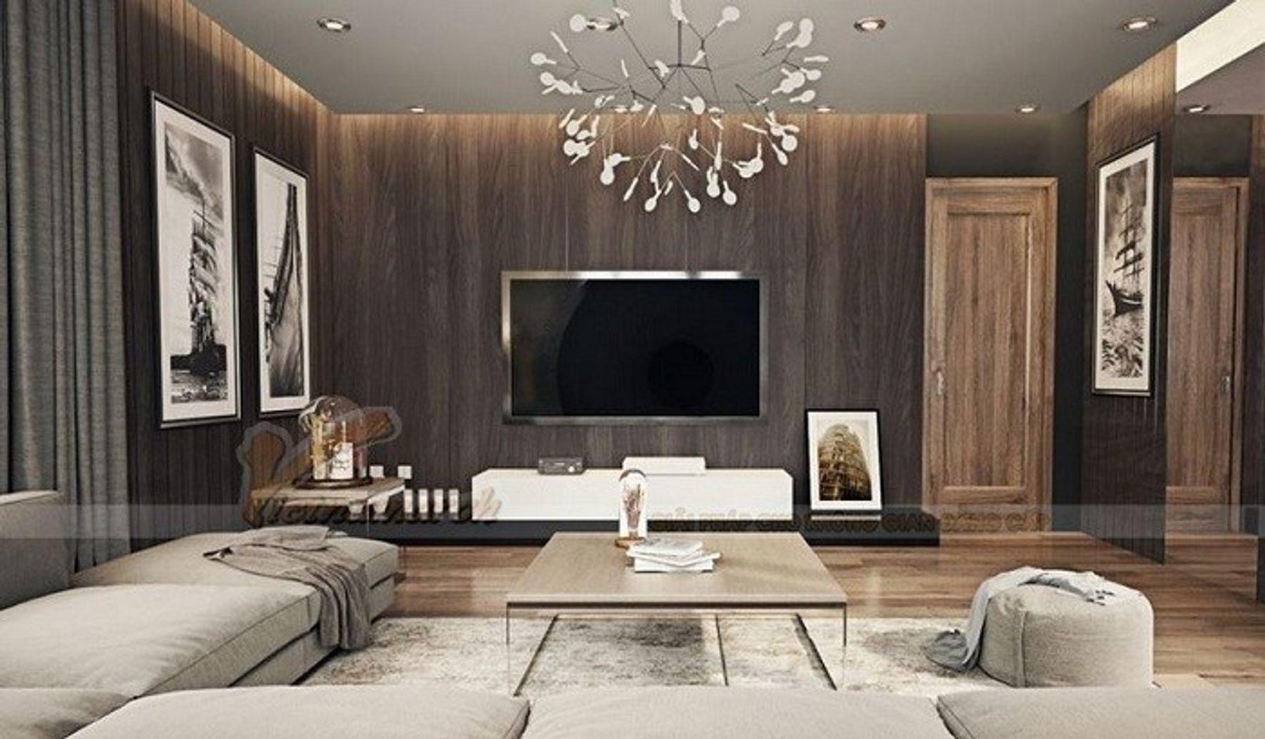 Trang trí phòng khách đơn giản với nội thất hiện đại