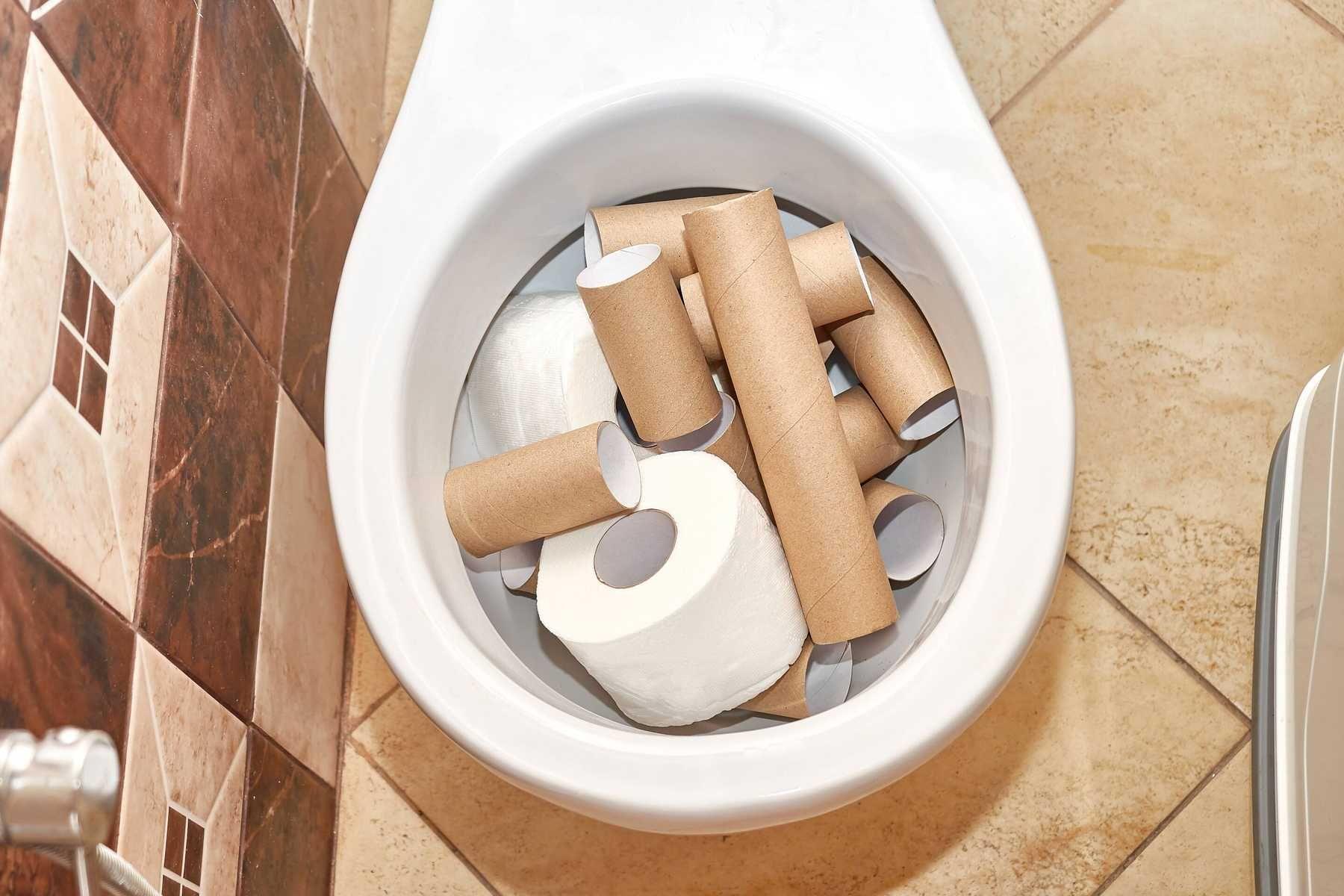 Thông tắc bồn cầu bị nghẹt do sử dụng nhiều giấy vệ sinh