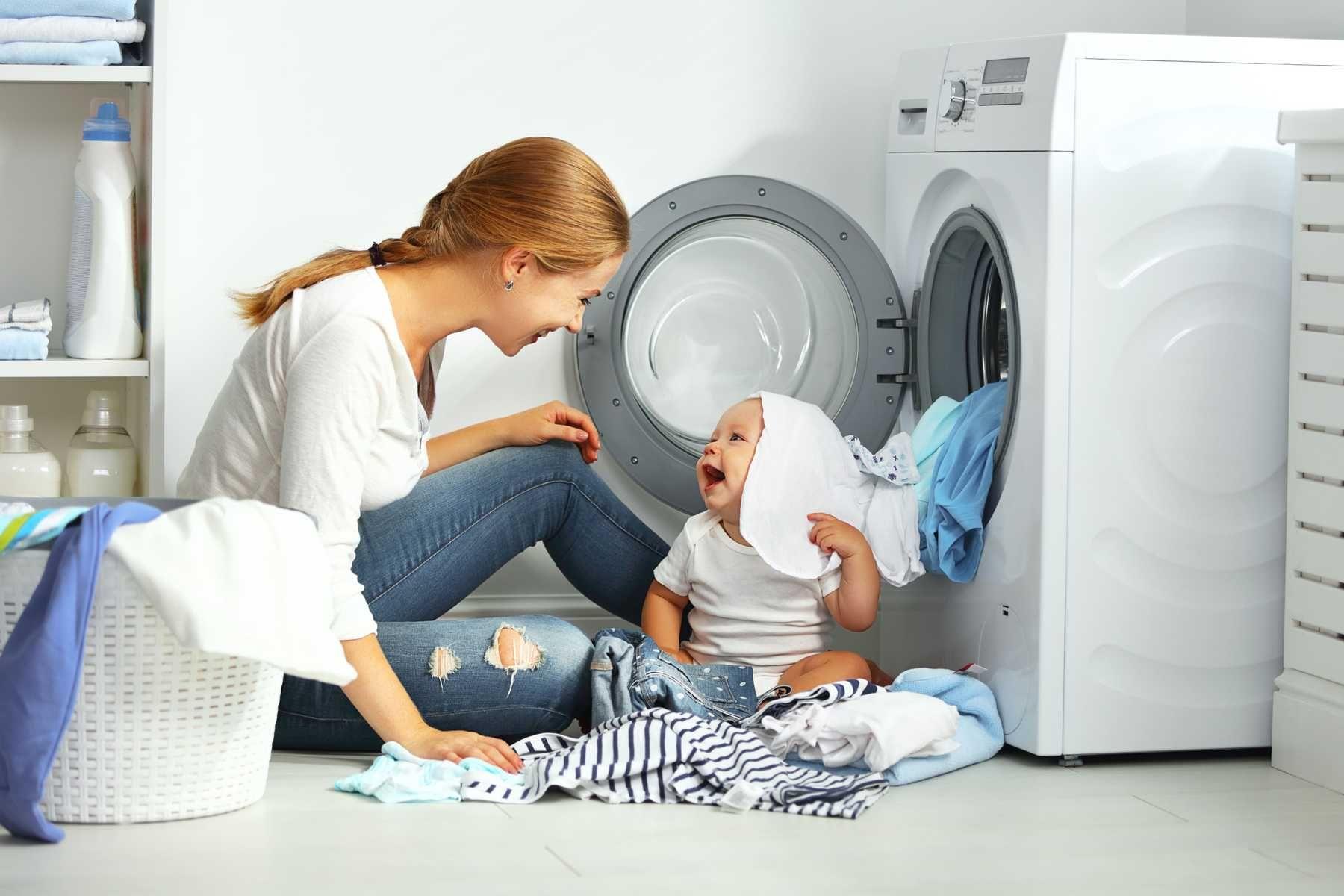 Giặt đồ cho trẻ sơ sinh bằng máy giặt