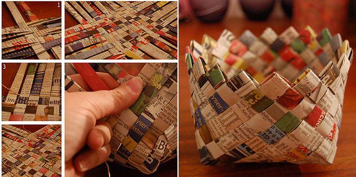 Tái chế giấy báo cũ