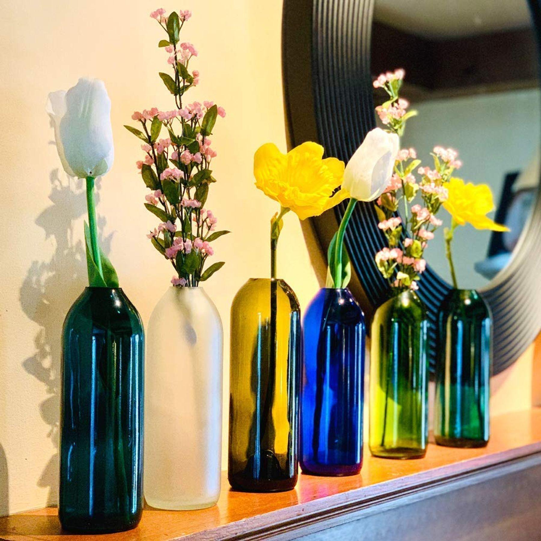 Tái chế chai thủy tinh thành lọ đựng hoa