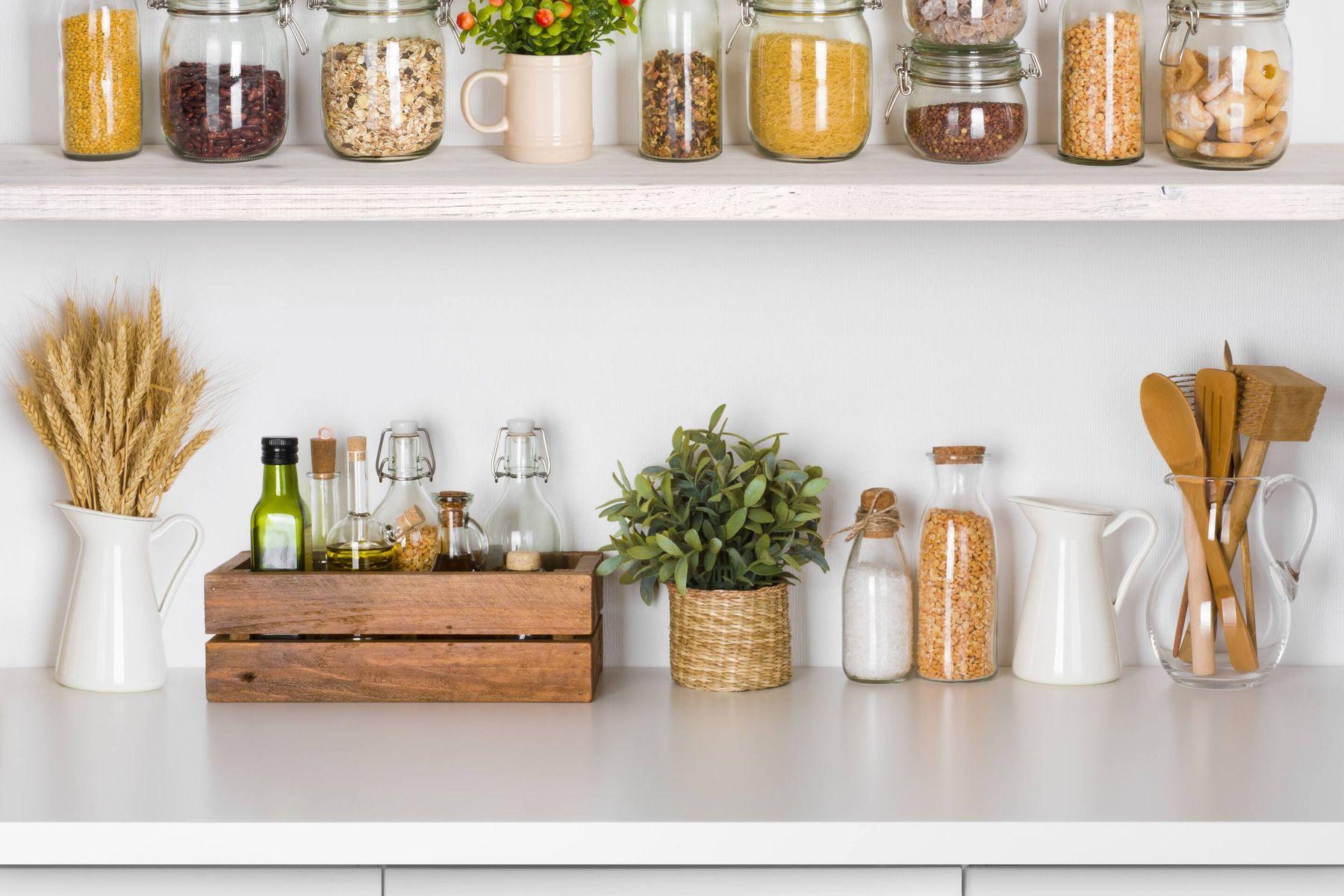 productos de cocina con caja de marron