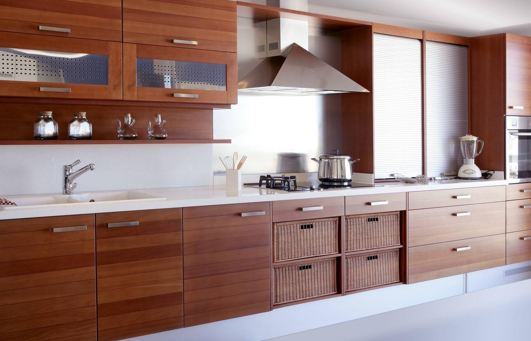 cách trang trí nhà bếp bằng gỗ