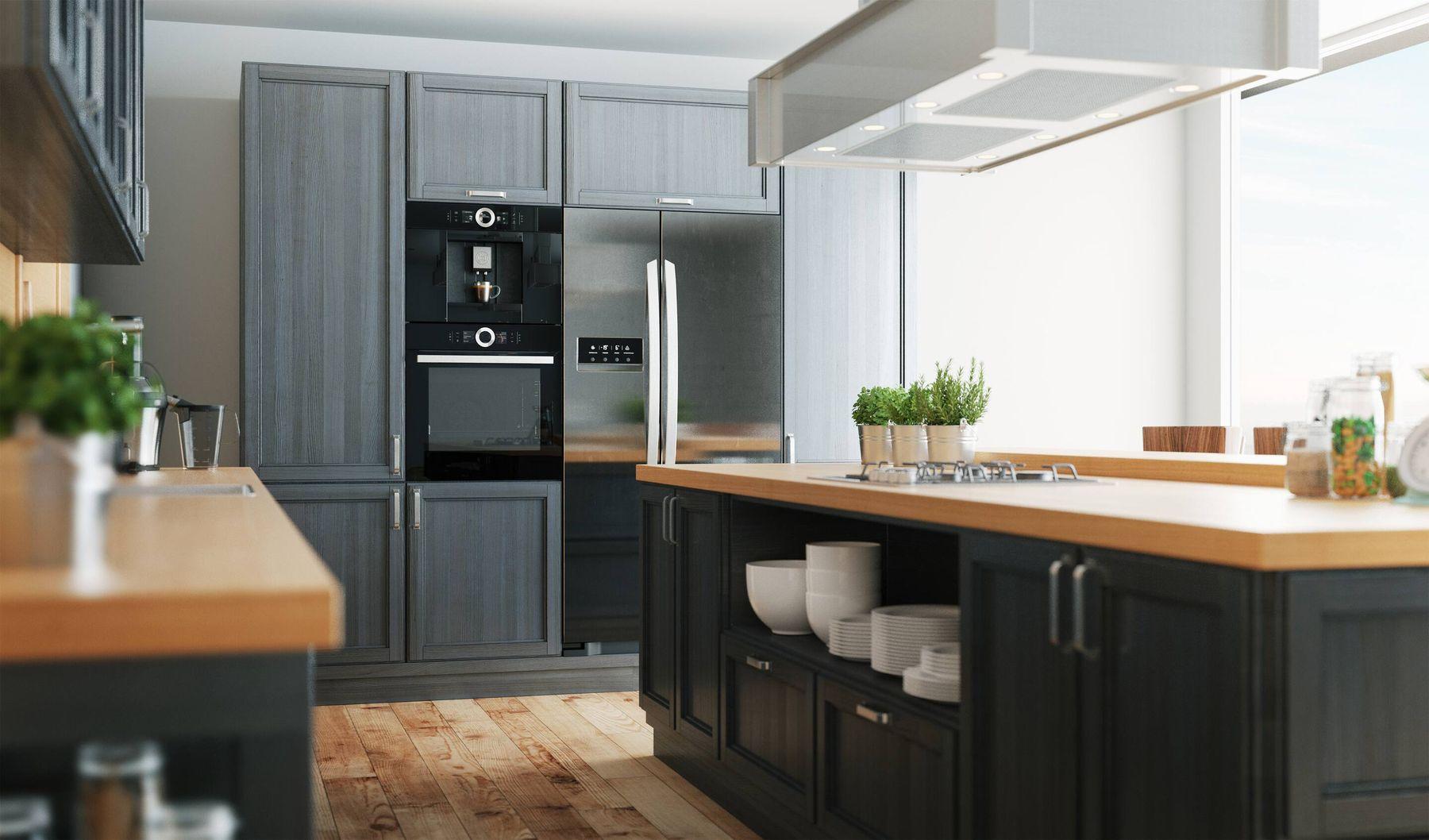 cách trang trí nhà bếp bằng cây xanh