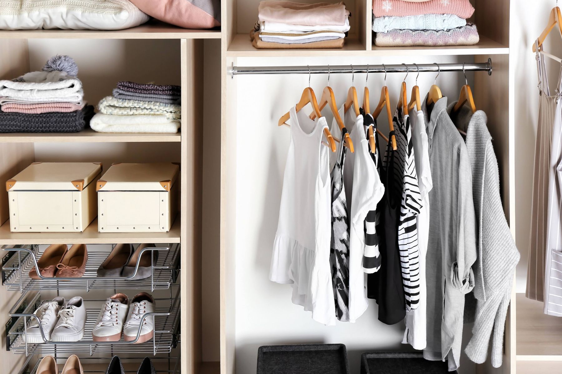 organisation in wardrobe as example