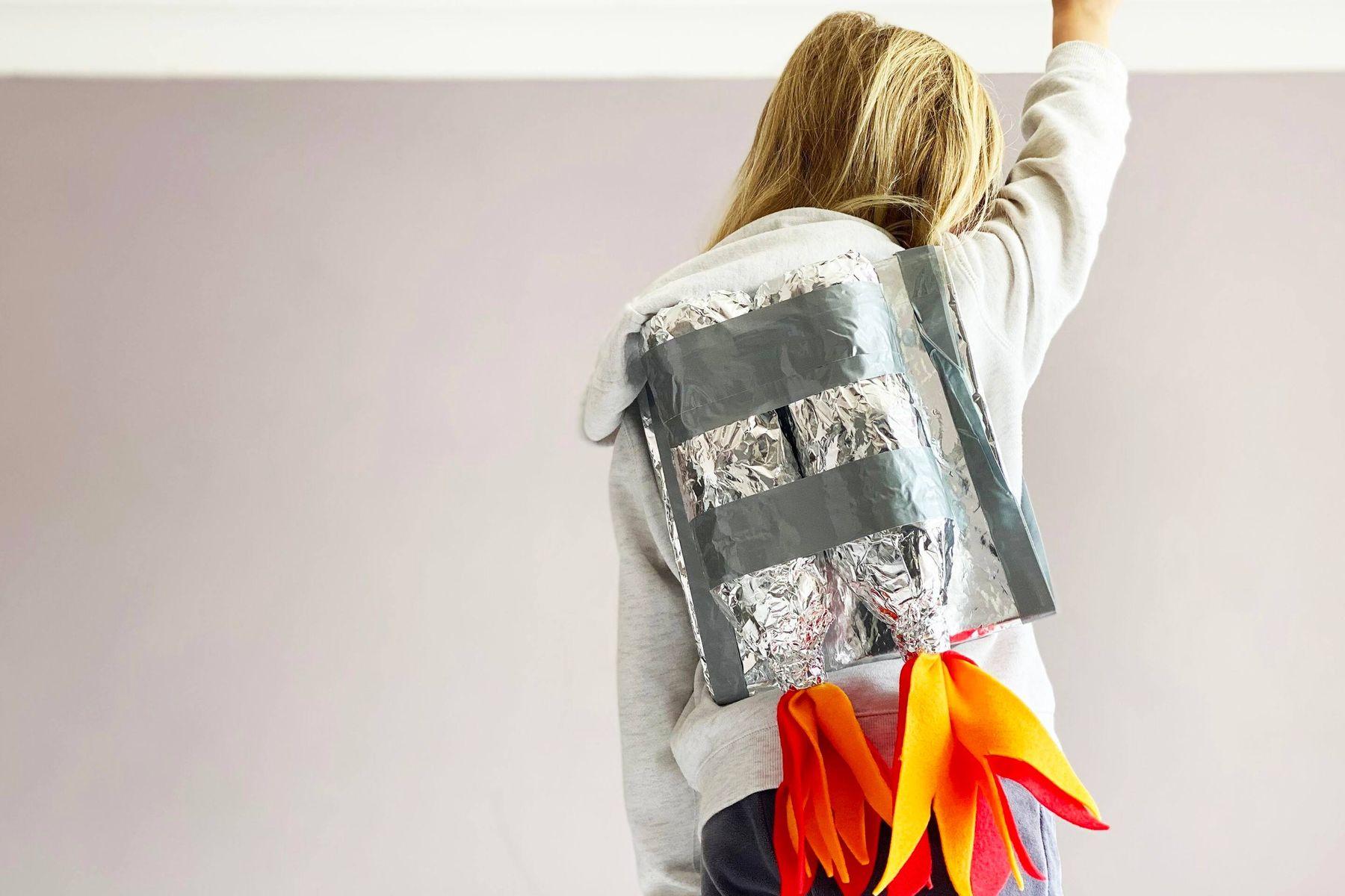 A plastic bottle jet pack