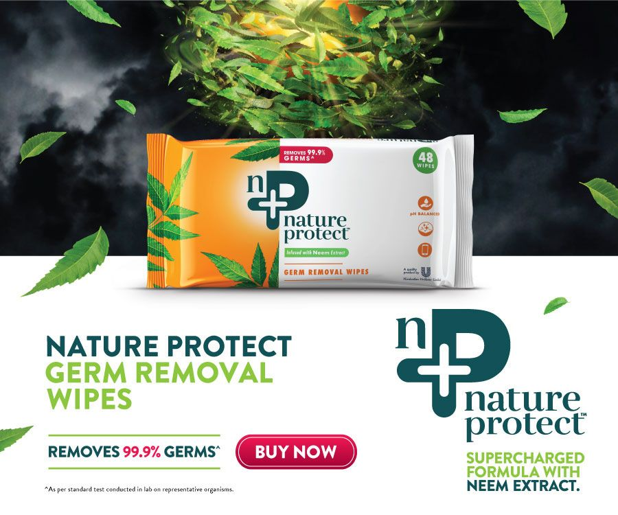 Nature Protect's on-the-go Disinfectant Wipes