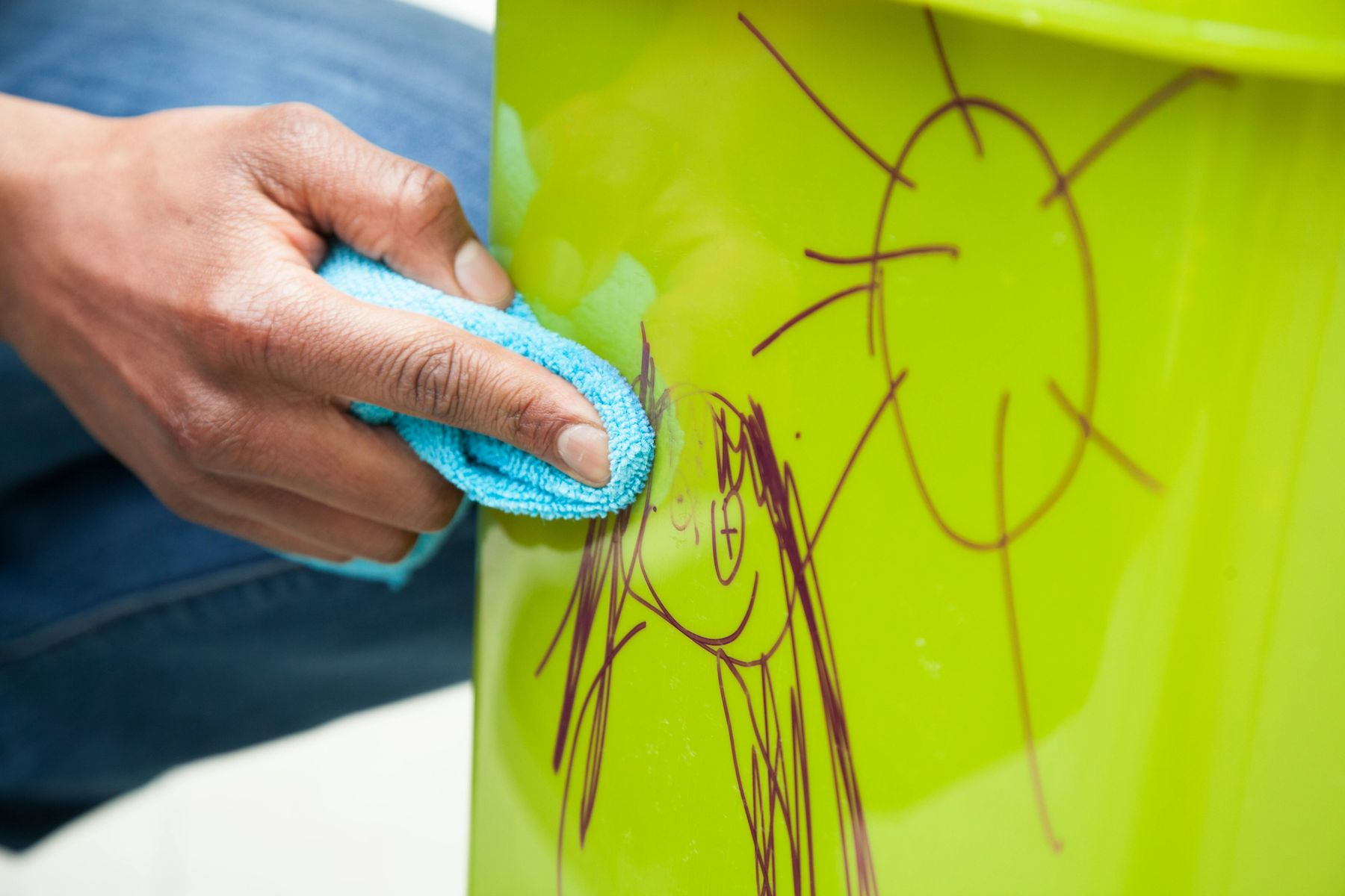 removing permanent marker from plastic