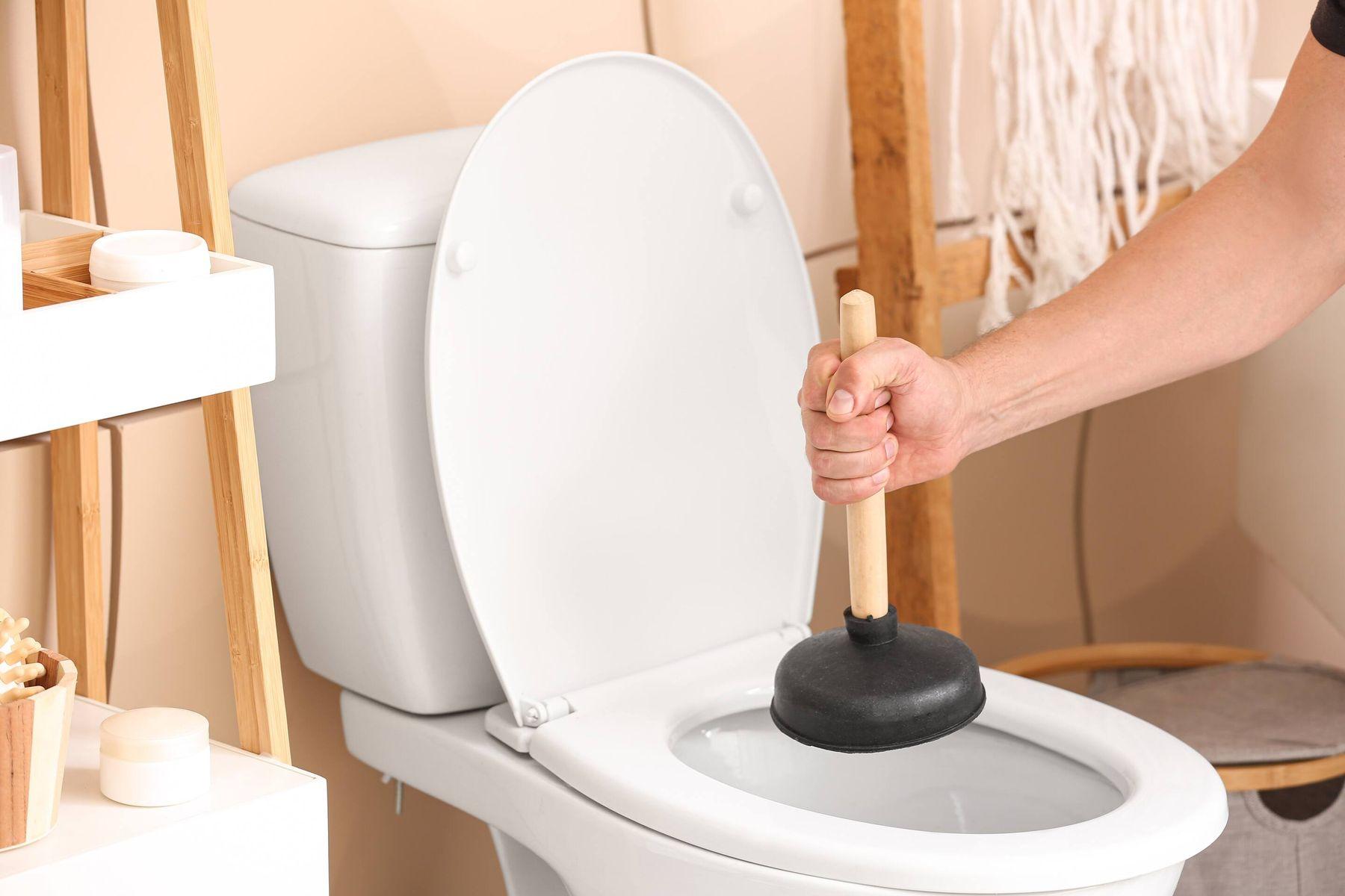 thực hiện thông tắc bồn cầu khử mùi hôi nhà vệ sinh