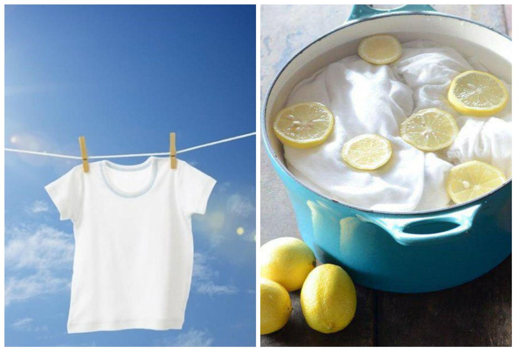Cách tẩy quần áo màu bằng chanh