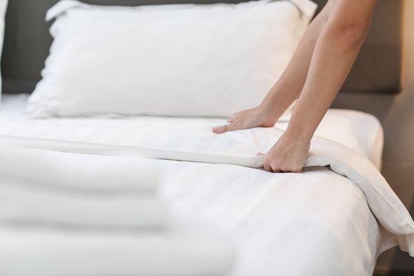 белое постельное белье