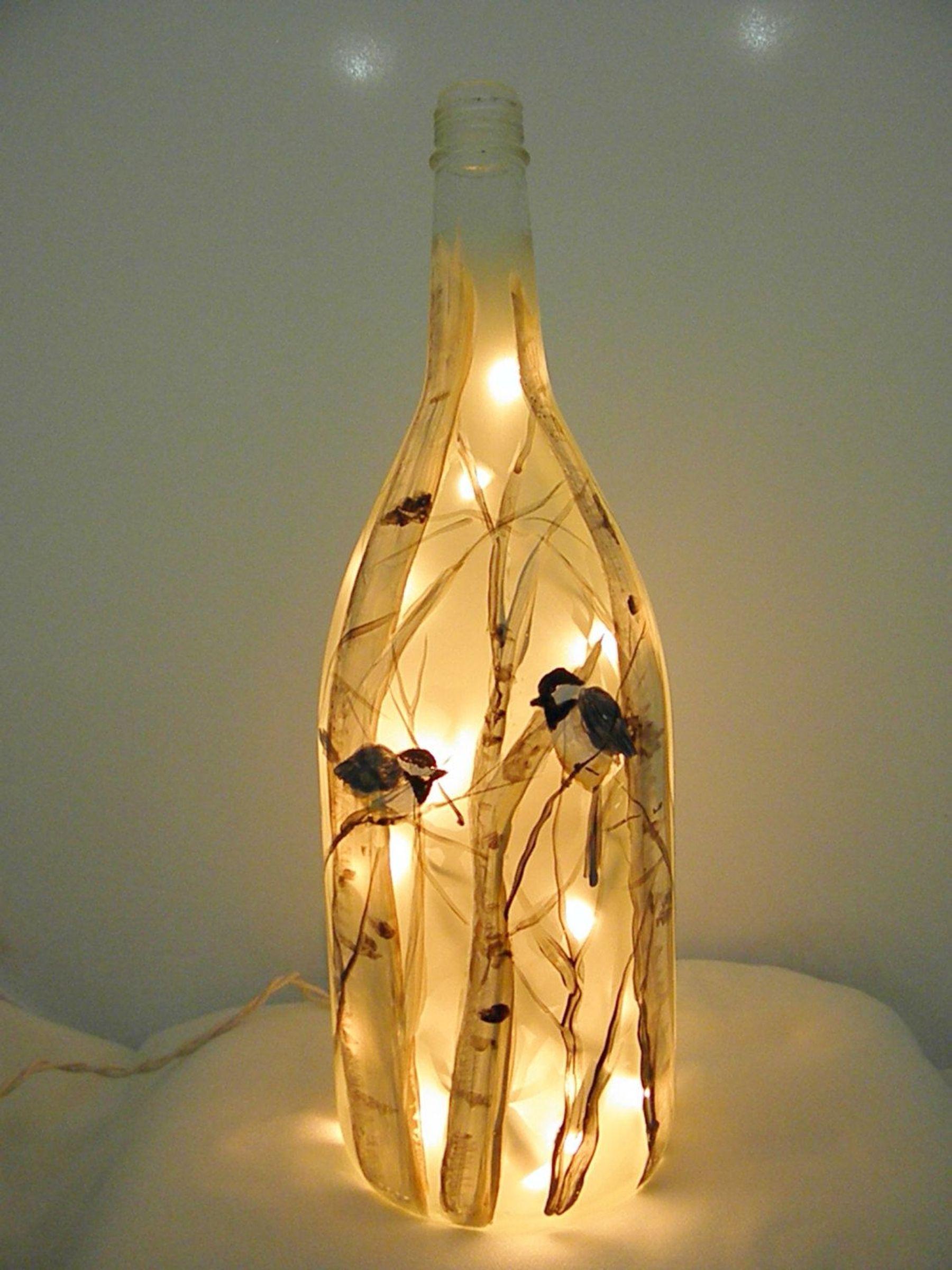 Làm chai đèn nghệ thuật